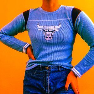 Blue Chicago Bulls Thermal Long Sleeve